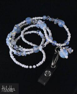 Helakka avainnauha sininen ja valkoinen