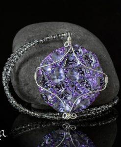 Helakka kaulakoru lasista violetti