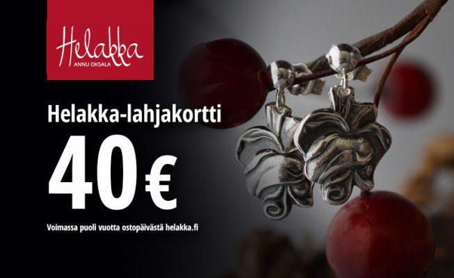 Lahja-idea Helakka-lahjakortti 40e