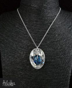 Helakka kaulakoru lasista sininen